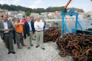 visita do representante de Portos de Galicia ao peirao de Raxó